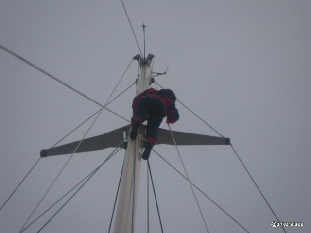 Clipper 13-14 Race Crew Training - climbing the mast